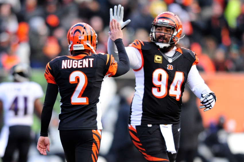 Bengals' Mike Nugent Is In The Middle Of A Kicking Battle
